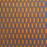 : Geometric Print Fabric - Lattice P104/212 Toffee/Plimsoll Blue