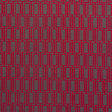 : Geometric Print Fabric - Lattice P104/213 Poppyseed/Red Oxide