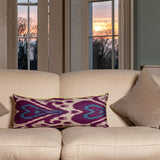 : Purple Heart Ikat Cushion-Context | Nicholas Engert Interiors