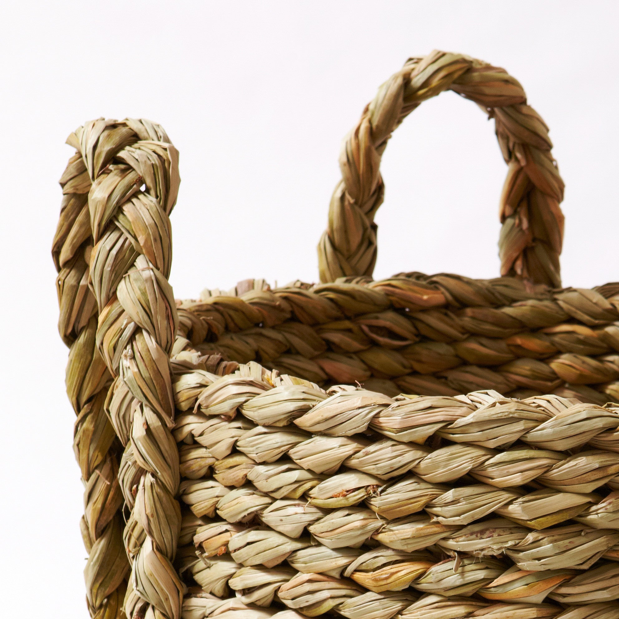 English Rush Log Basket-Detail | Nicholas Engert Interiors