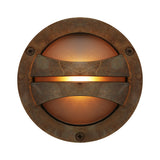 : Seri Outdoor Bulkhead Lamp-Antique Brass | Nicholas Engert Interiors
