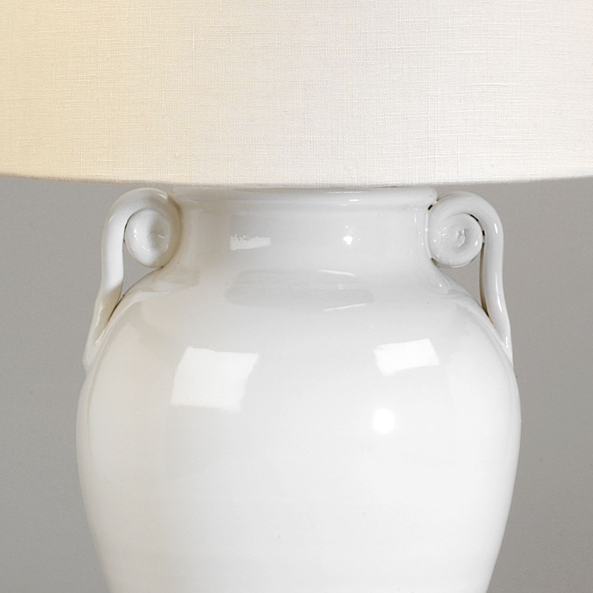 Acerra Ceramic Vase Table Lamp-Detail | Nicholas Engert Interiors