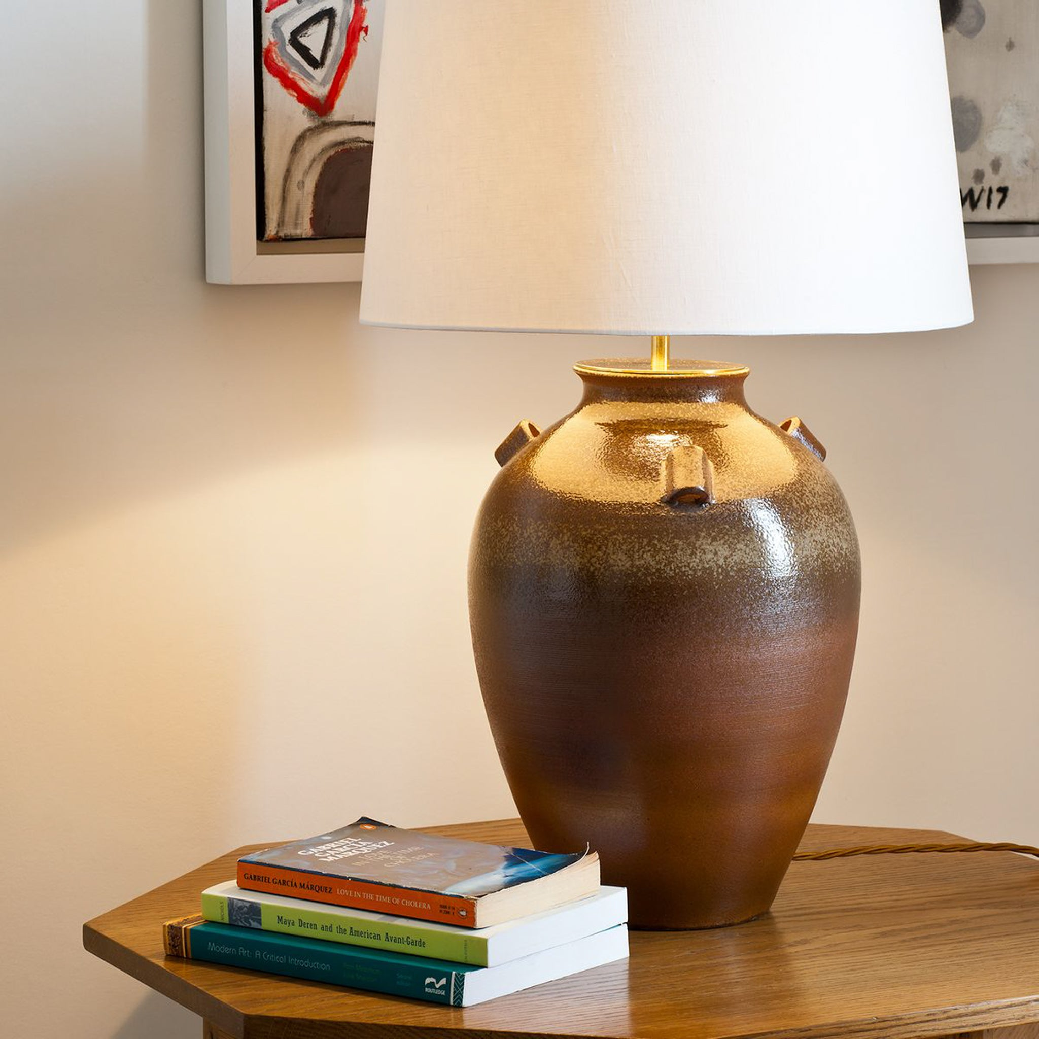 Barton Stoneware Vase Table Lamp-Context | Nicholas Engert Interiors