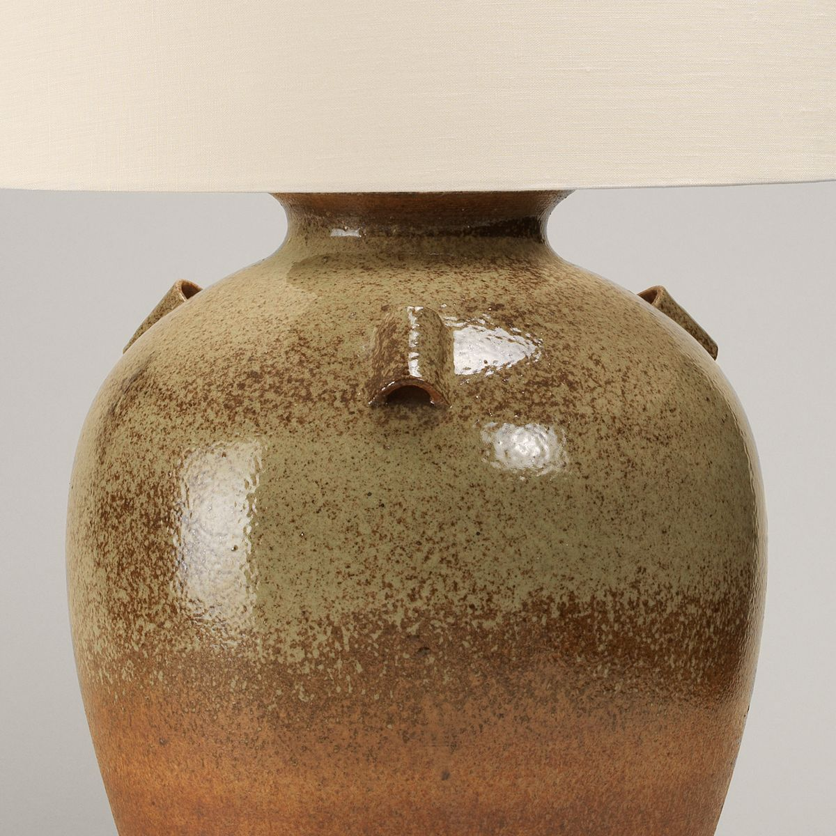 Barton Stoneware Vase Table Lamp-Detail | Nicholas Engert Interiors