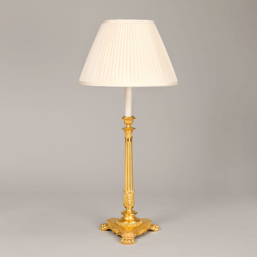 Campbon Candlestick Table Lamp-Gilt | Nicholas Engert Interiors