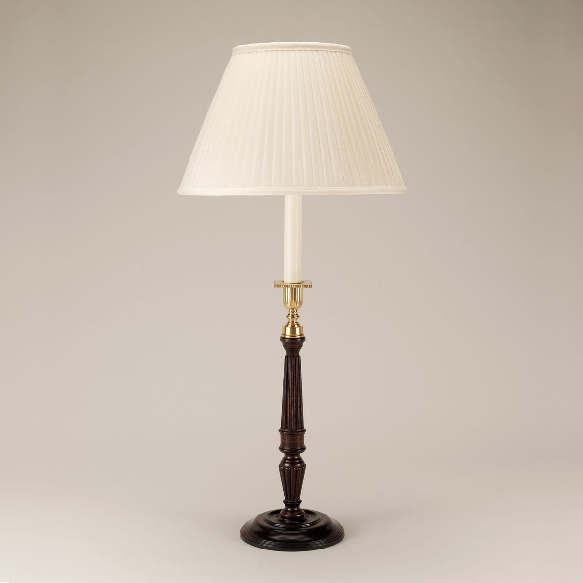 Chilworth Candlestick Table Lamp - Mahogany | Nicholas Engert Interiors