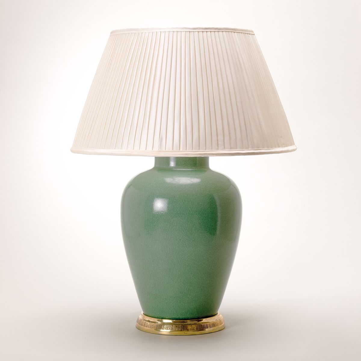 Melon Vase Table Lamp - Crackled Celadon | Nicholas Engert Interiors