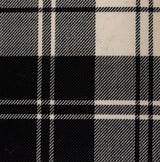 : Tartan Fabric - Erskine Black-White