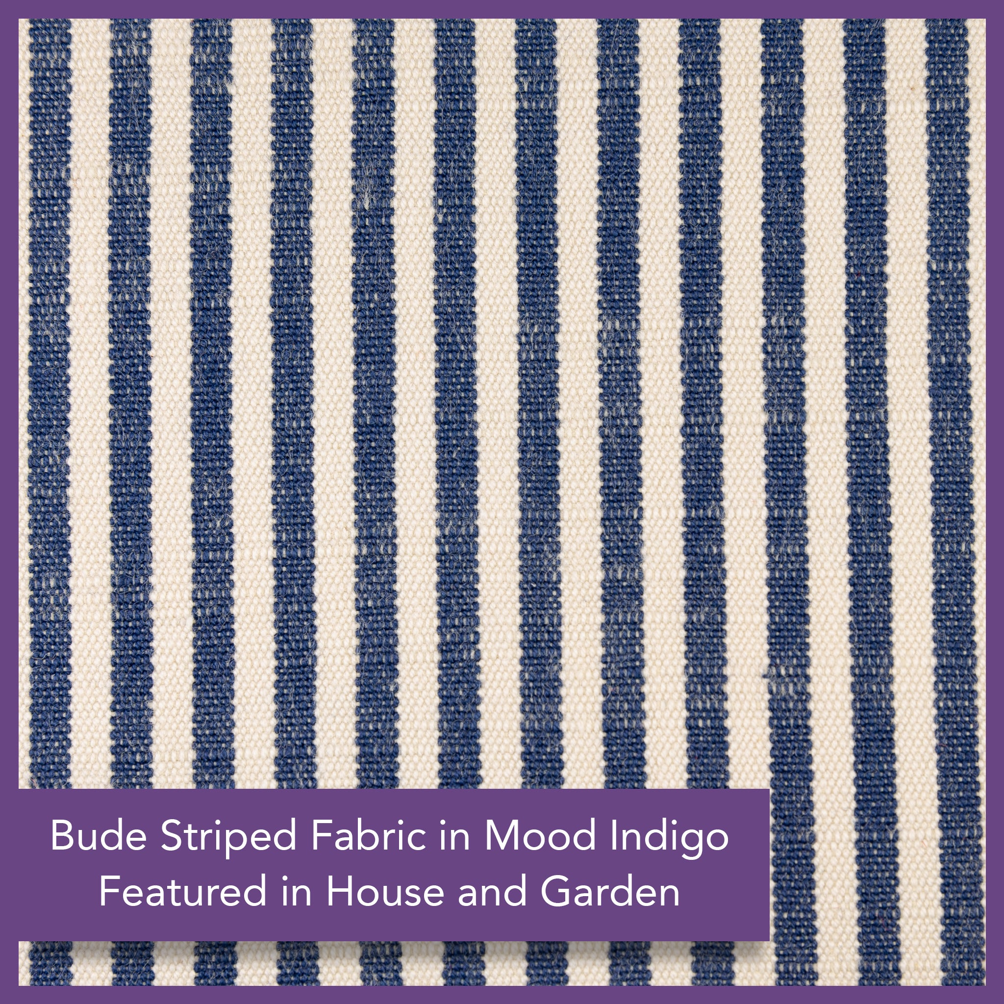 Woven Striped Fabric - Bude - Mood Indigo