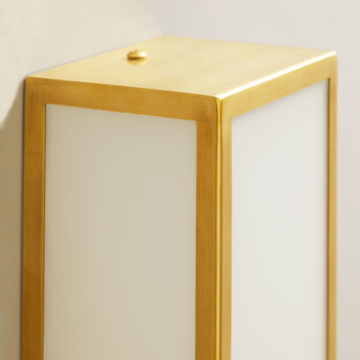 Beverley Bathroom Wall Light-Brass-Detail | Nicholas Engert Interiors