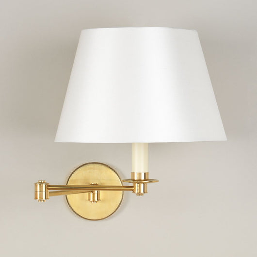 Cromer Swing Arm Wall Light - Brass | Nicholas Engert Interiors