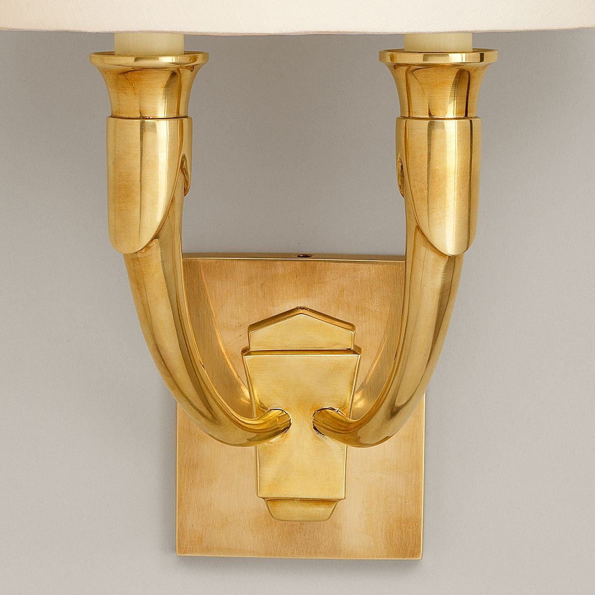 French Horn Wall Light-Brass-Detail | Nicholas Engert Interiors