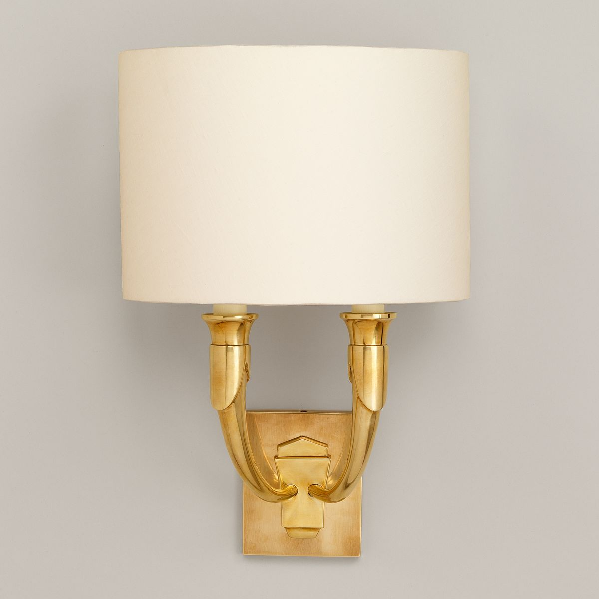 French Horn Wall Light-Brass | Nicholas Engert Interiors