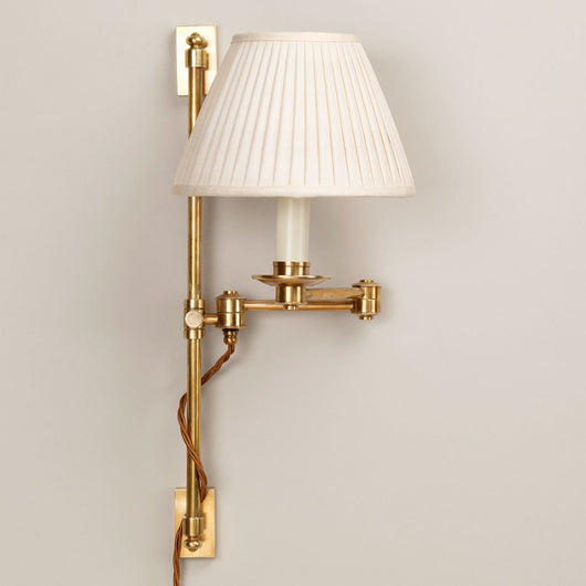 Oban Rise and Fall Wall Light-Polished Brass | Nicholas Engert Interiors