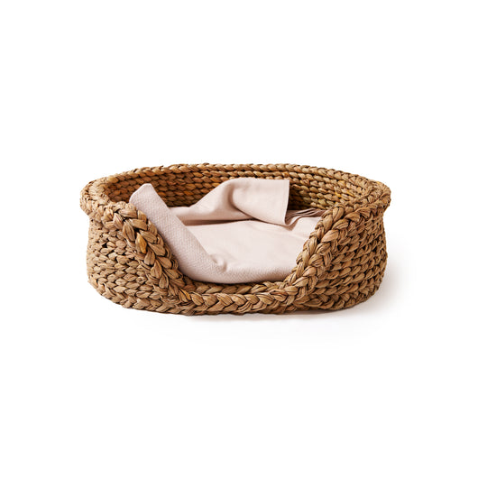 Oval Rush Dog Basket-Medium | Nicholas Engert Interiors