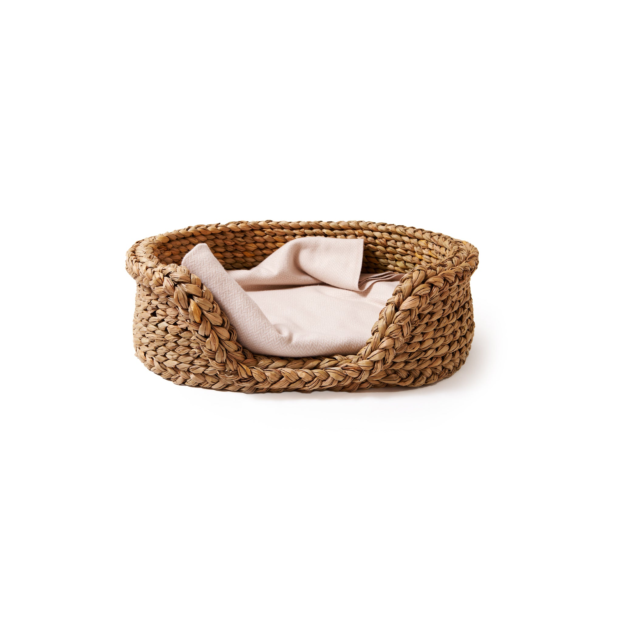 Oval Rush Dog Basket-Small | Nicholas Engert Interiors