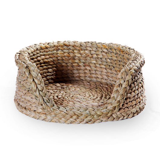 Round Rush Dog Basket-Large | Nicholas Engert Interiors