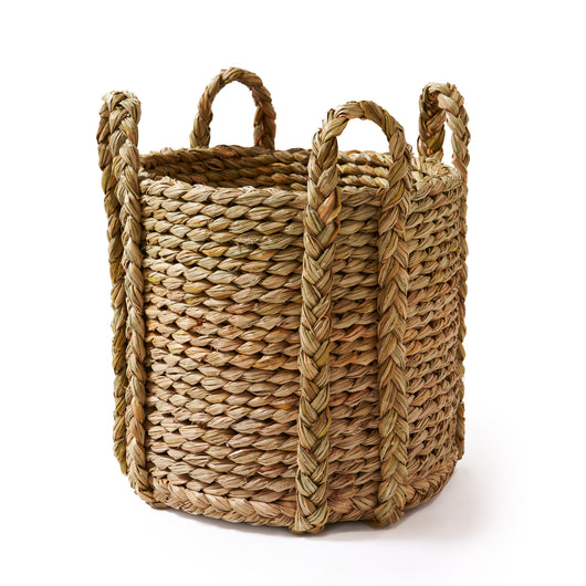 Round Rush Log Basket-Extra Large | Nicholas Engert Interiors