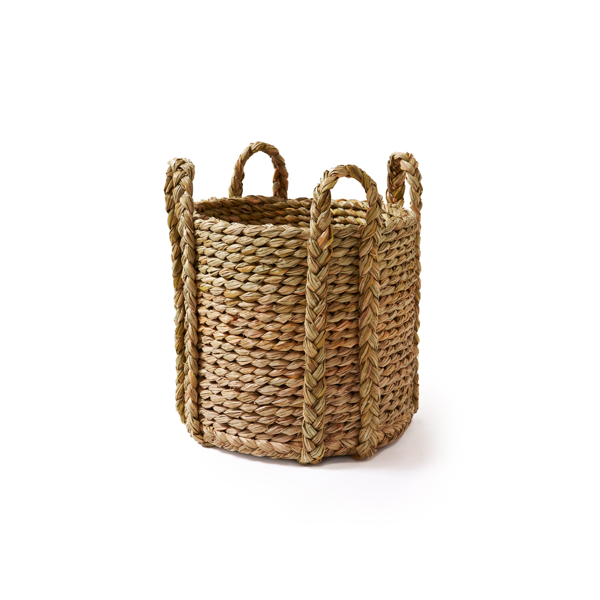 Round Rush Log Basket-Medium | Nicholas Engert Interiors