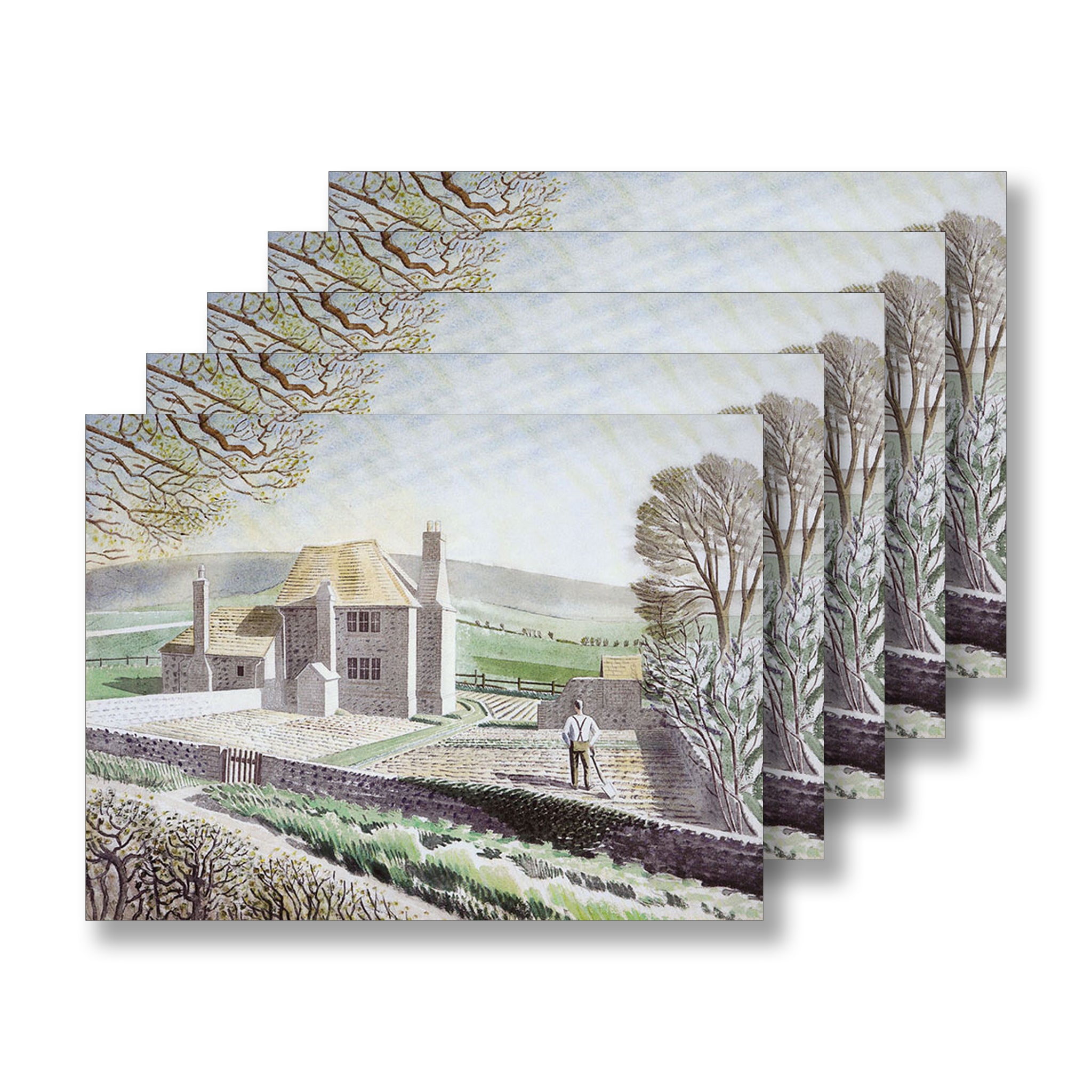 Shepherd's Cottage, Firle by Eric Ravilious