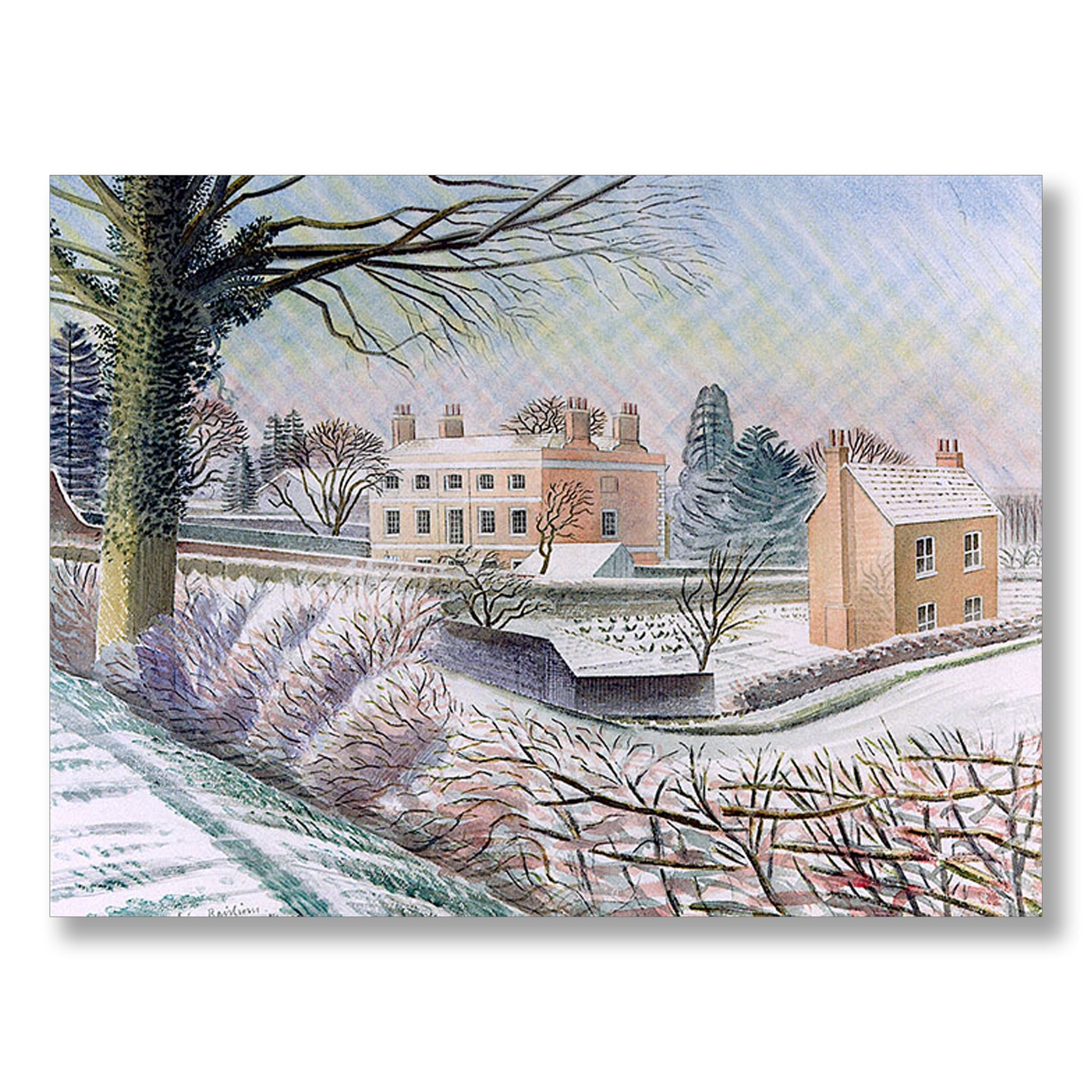 Vicarage in Winter by Eric Ravilious