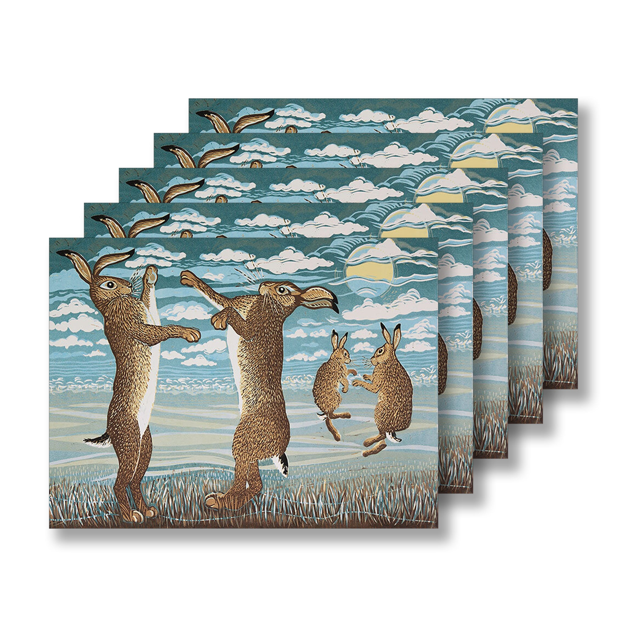 March Hares by Linda Richardson