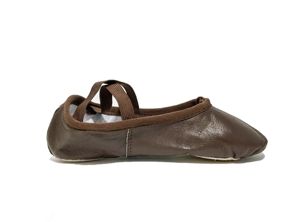 Confident Cocoa Fleshtone Leather Ballet Shoe