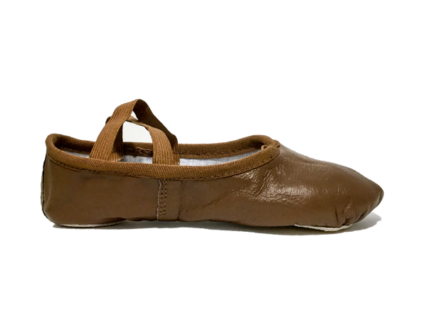 Brazen Brown Leather Ballet Shoe