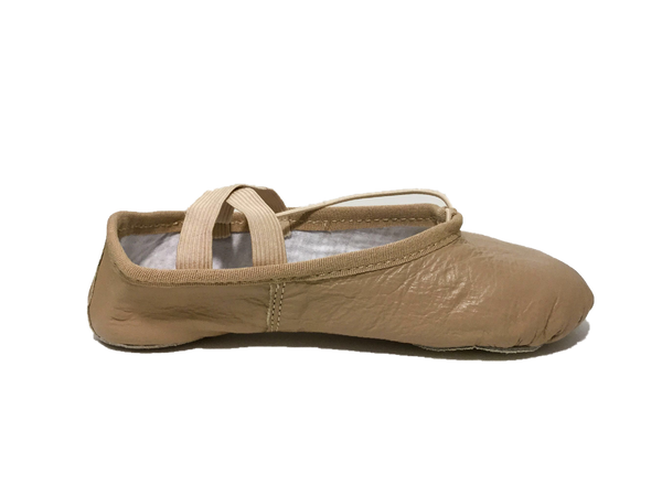 Tenacious Tan Leather Ballet Shoe