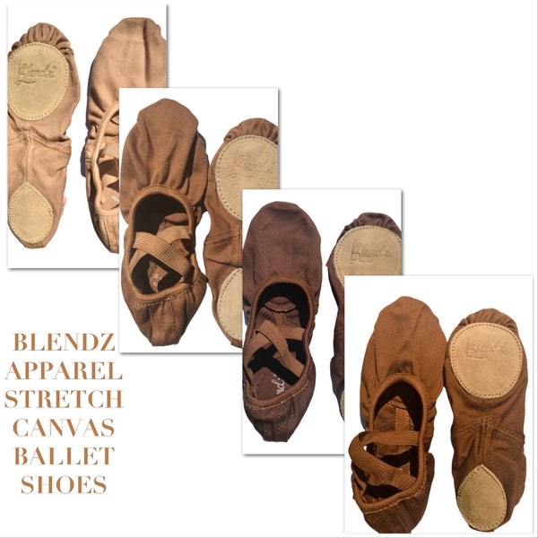 Child Stretch Canvas Ballet Shoe Size Kit