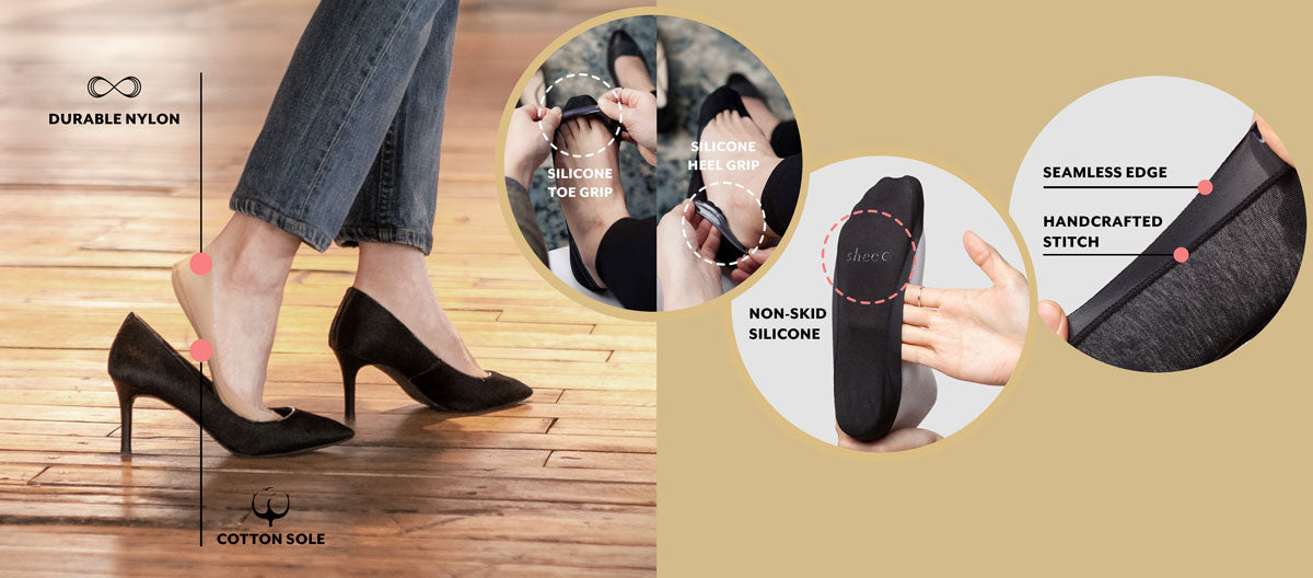 No show socks for heels Sheec socks Secret 2.0 Ultra Low cut