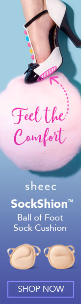 Feel the Comfort with Sheec Socks ball of foot sock cushion