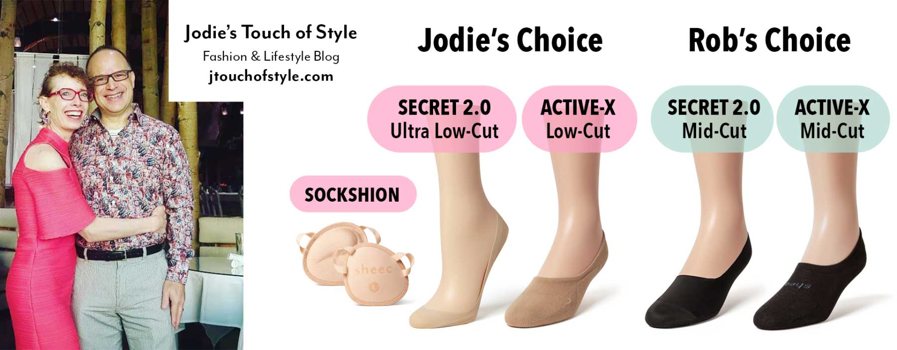Jodie & Rob's Sheec Socks Choices