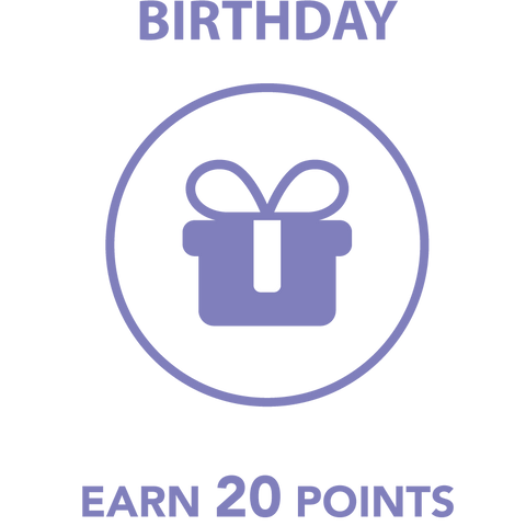 Birthday, Earn 20 points