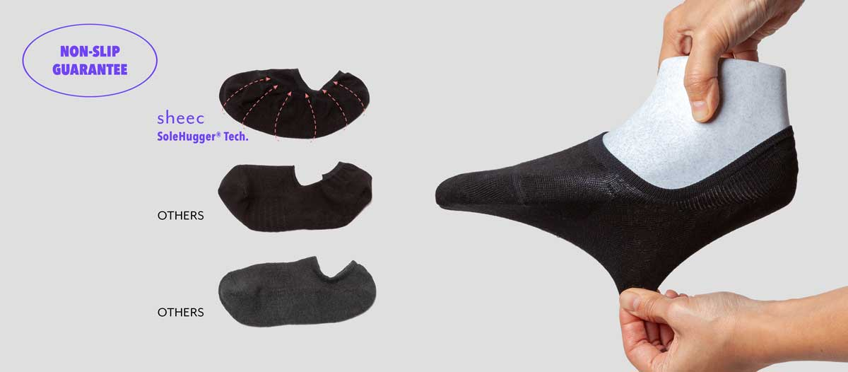 No show socks for Sneakers Non slip sole hugger techonology
