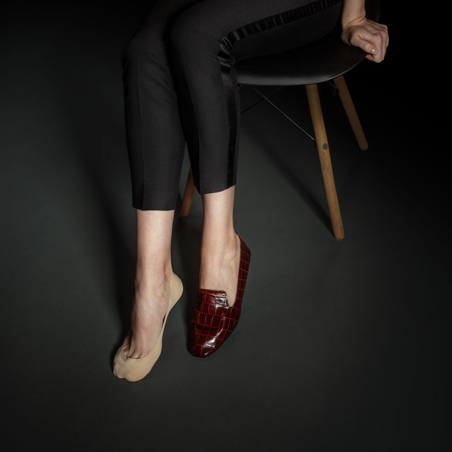 No show socks for women, pairs perfectly with women's loafers.