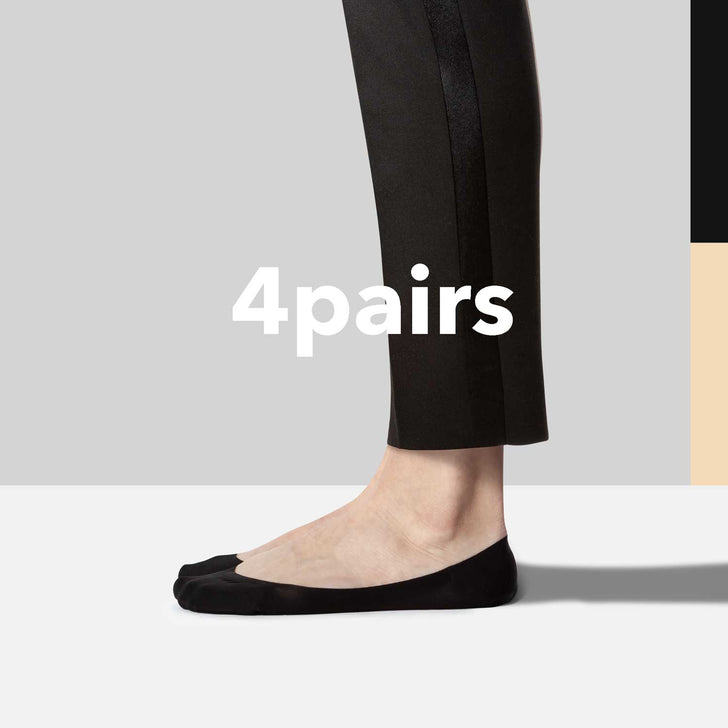 low cut no show socks for Dress Shoes 4 pairs