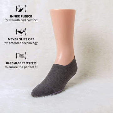 Fleece Warm No Show Socks for Women and Men with Booties.