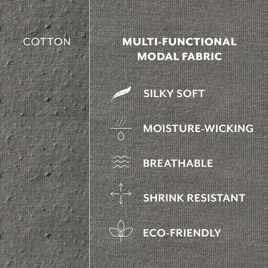 No show socks made of silk-soft, moisture-wicking, breathable, shrink resistant, and eco-friendly Modal fabric.