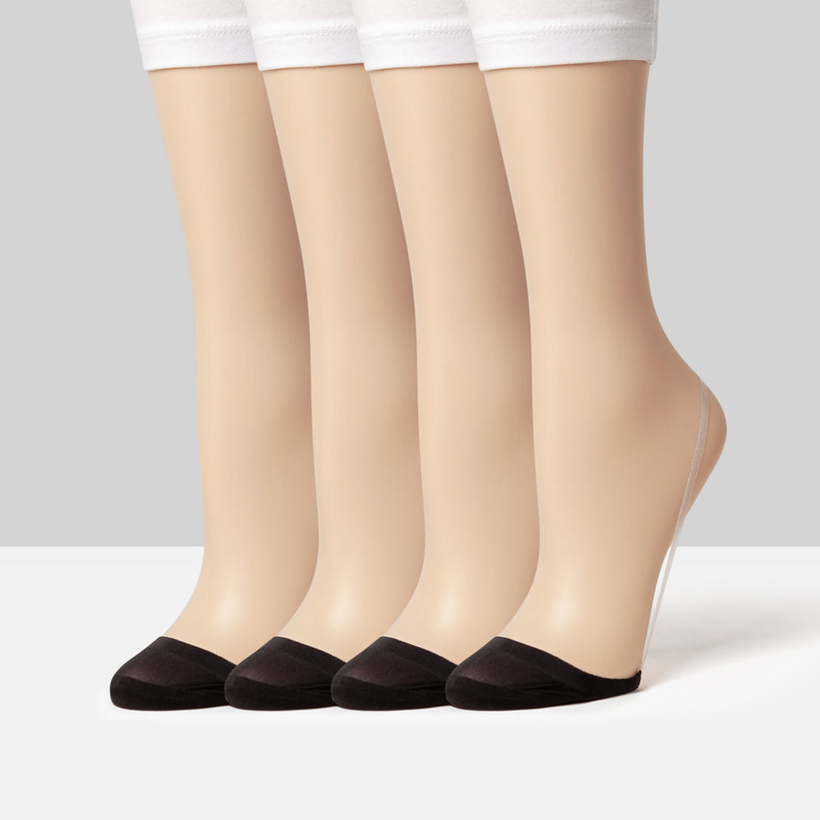 Slingback - Seamless Toe Cover No Show Socks Bundle Pack