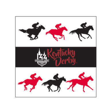 Kentucky Derby 144 White/Red/Black Party Napkins