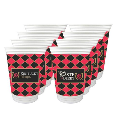 Kentucky Derby Icon 16oz. Beverage Cups - 8 Pack