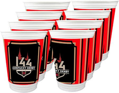 Kentucky Derby 144 16oz. Beverage Cups - 8 Pack