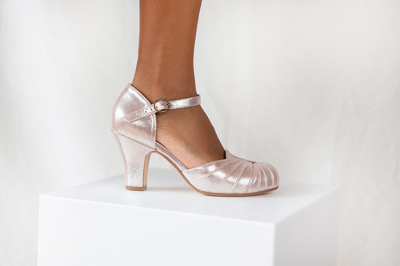Amber Copper Ankle Strap Heel