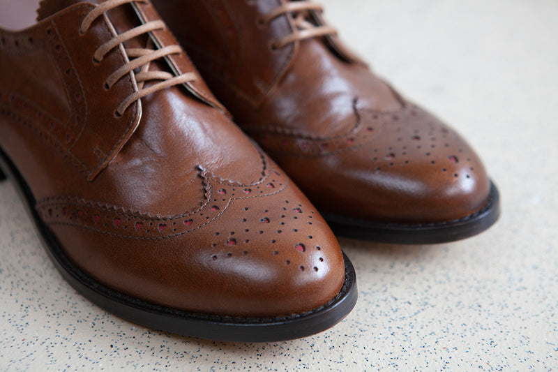 Audrey Tan Lace-up Brogue