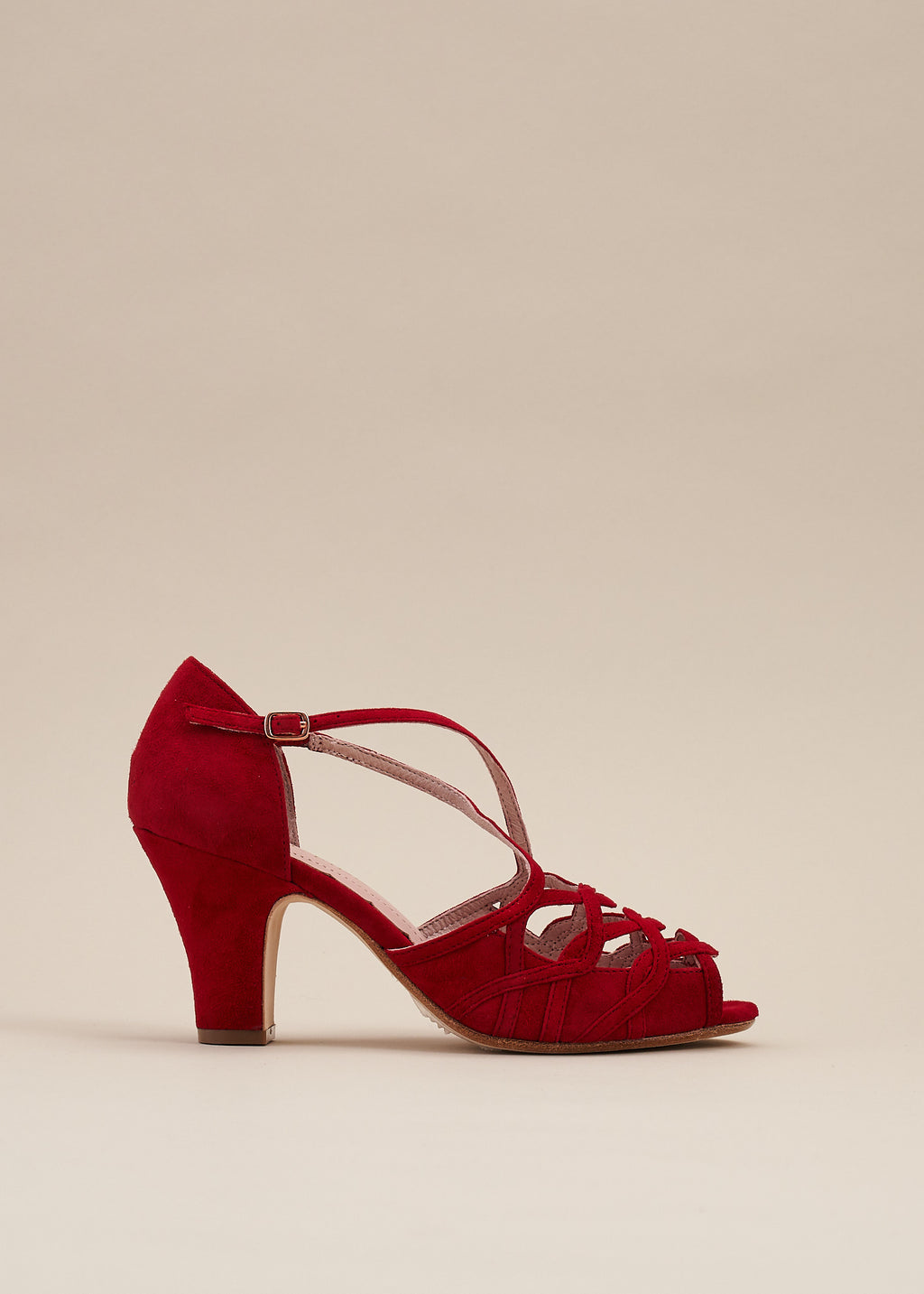 Adele Red Suede