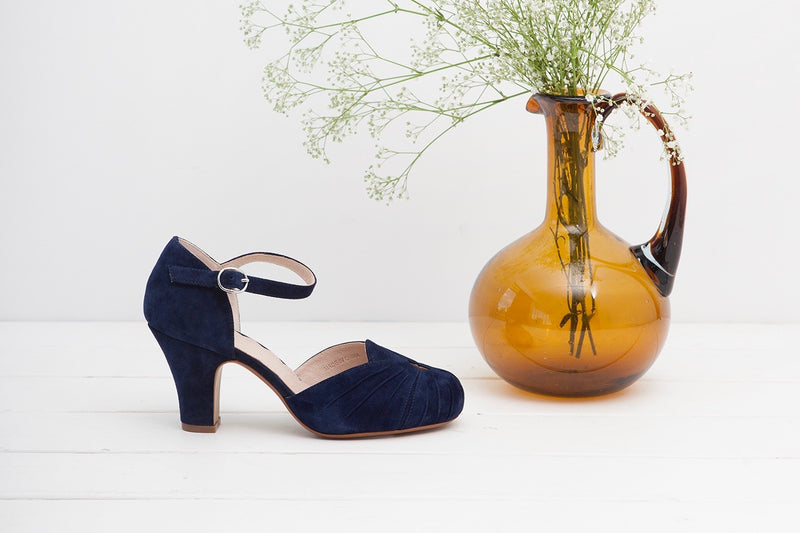Amber Navy Ankle Strap Heel - LAST PAIR SIZE 39