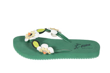Felippe Green Flower Detail Flip Flops