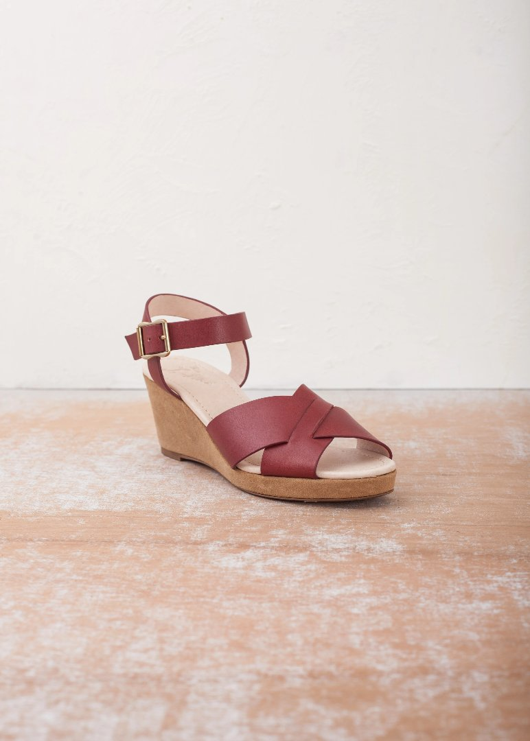 Gertie Brick Wedge Sandal