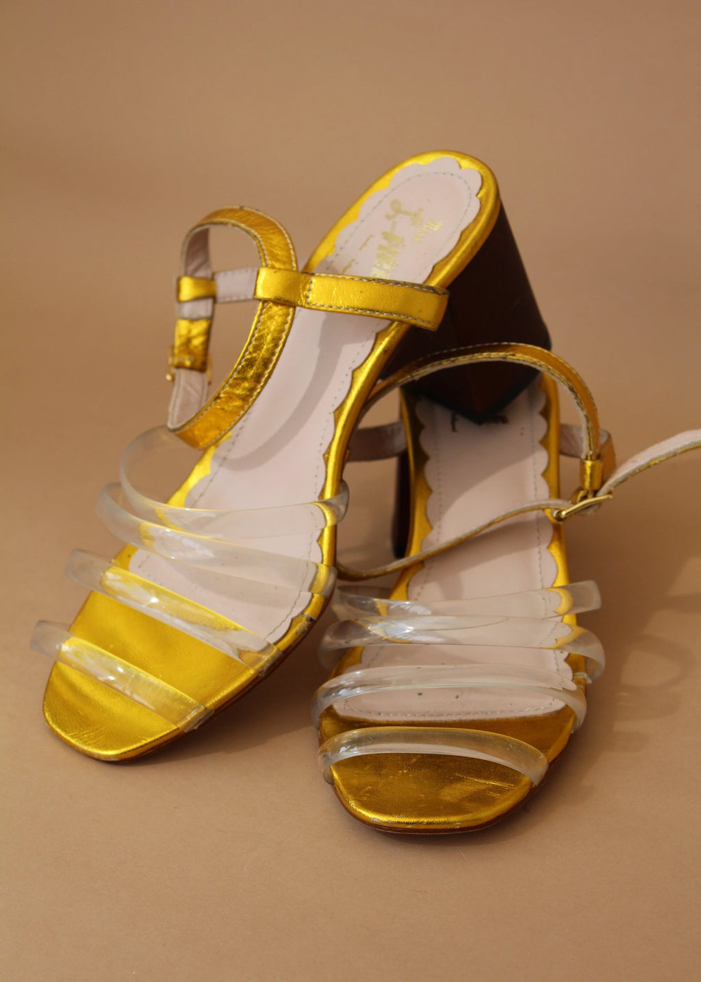 Harper Gold Metallic and Vinyl Sandal
